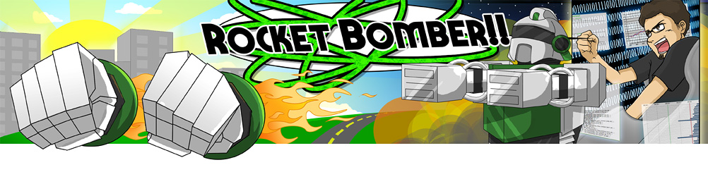RocketBomber Banner by Lissa Pattillo, ©2010, no copying without her express permission